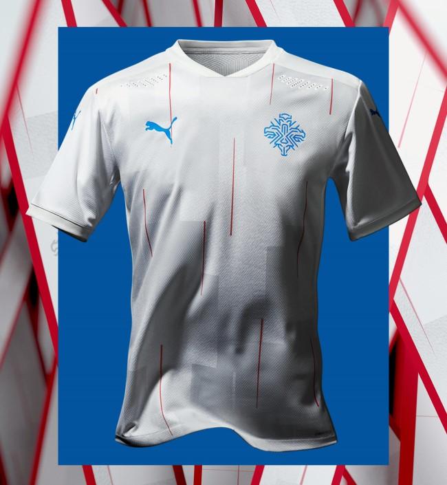 Выездной комплект футбольной формы сборной Исландии